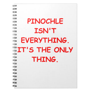 pinochle spiral note book