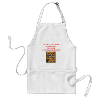 PINOCHLE player gifts t-sirts Adult Apron