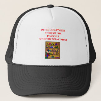 PINOCHLE player gifts t-sirts Trucker Hat