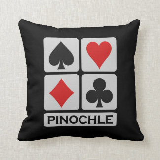 Pinochle Player throw pillow