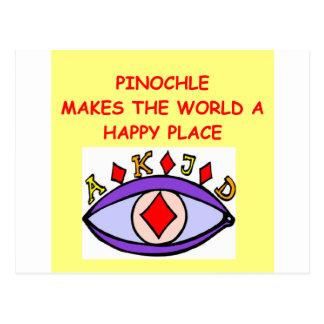 pinochle postcard