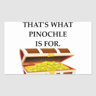 PINOCHLE RECTANGULAR STICKER