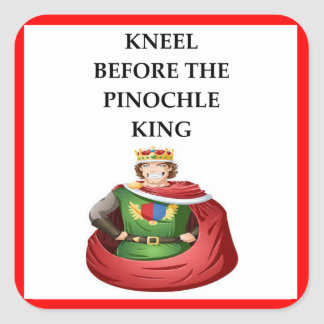 PINOCHLE SQUARE STICKER