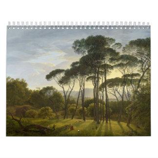 Pinos de paraguas italianos del paisaje de Hendrik Calendarios