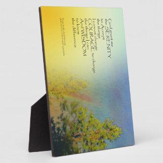 Pinos del arco iris del rezo de la serenidad placas de madera