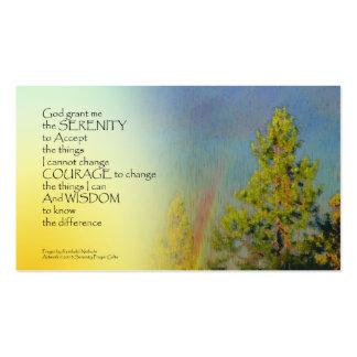 Pinos del arco iris del rezo de la serenidad tarjetas de visita