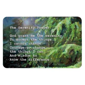 Pinos del rezo de la serenidad imán foto rectangular