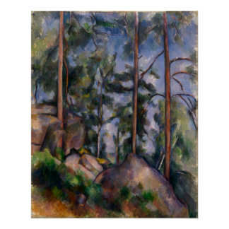 Pinos y rocas (pernos y Rochers) Paul Cézanne Poster