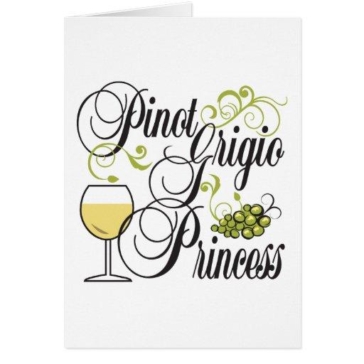 Pinot Grigio Princess Greeting Card
