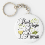 Pinot Grigio Princess Keychain
