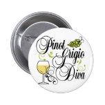 Pinot Grigio Wine Diva Buttons