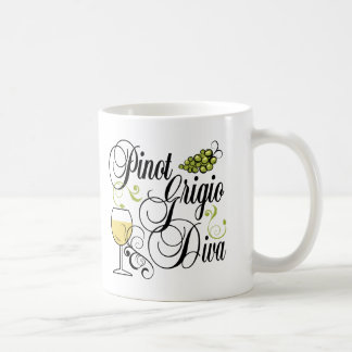 Pinot Grigio Wine Diva Coffee Mug