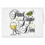 Pinot Grigio Wine Diva Greeting Card