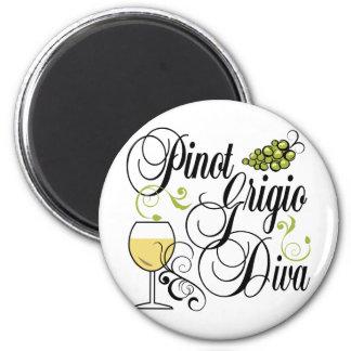 Pinot Grigio Wine Diva Magnet