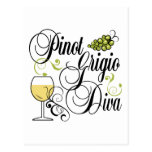Pinot Grigio Wine Diva Post Card