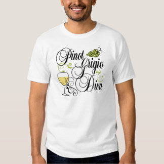 Pinot Grigio Wine Diva Tee Shirt