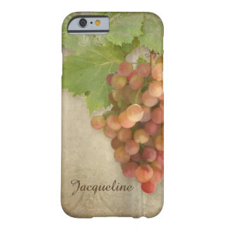Pinot Grigio Wine Grapes Vintage Parchment Artwork Barely There iPhone 6 Case