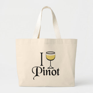 Pinot Grigio Wine Lover Gifts Large Tote Bag