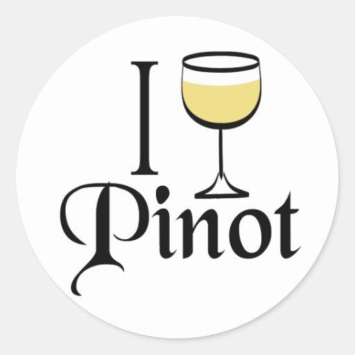 Pinot Grigio Wine Lover Gifts Round Stickers