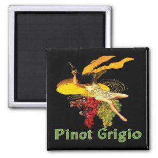 Pinot Grigio Wine Maid 2 Inch Square Magnet