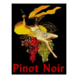 Pinot negro de la criada del vino poster