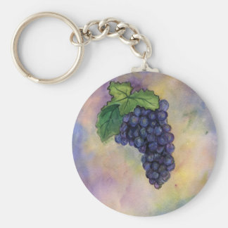 Pinot Noir Wine Grapes Keychain