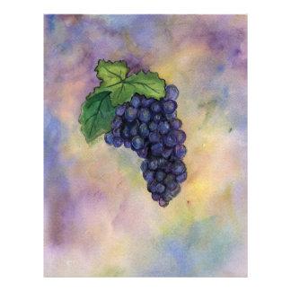 Pinot Noir Wine Grapes Letterhead