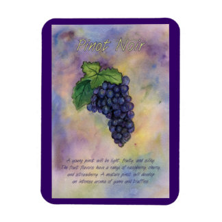 Pinot Noir Wine Grapes Painting Art Magnet