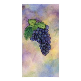 Pinot Noir Wine Grapes Photo Card