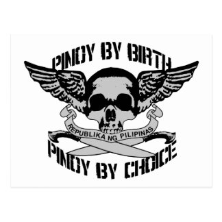 Pinoy By Birth Pinoy By Choice Postcard