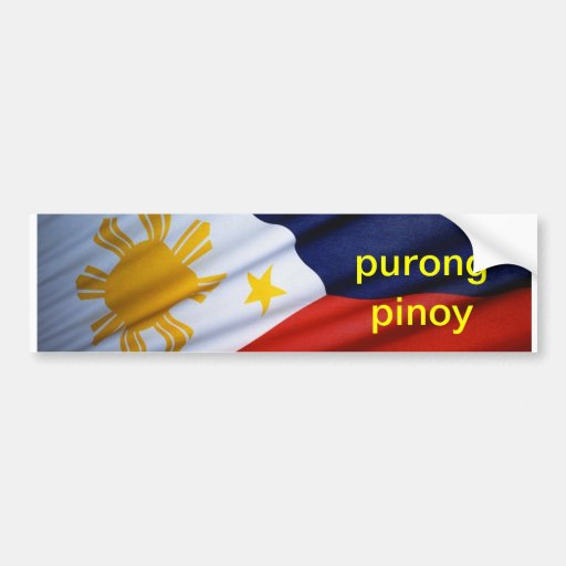 **** pinoy del purong pegatina para auto