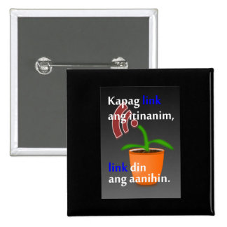 Pinoy funny blogger quotes: Link Building 2 Inch Square Button