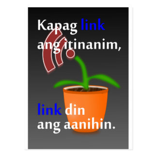 Pinoy funny blogger quotes: Link Building Post Cards