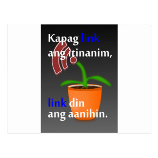 Pinoy funny blogger quotes: Link Building Postcard