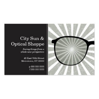 Pinpoint Grungy Rays Glasses Business Card