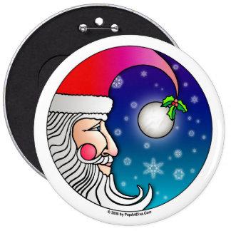 Pins, Buttons - Santa Moon