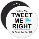 Pins, buttons - Tweet Me Right