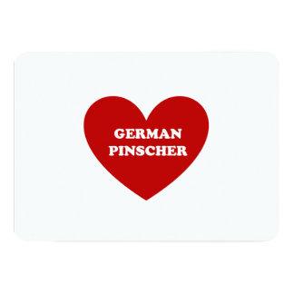 """Pinscher alemán invitación 5"""" x 7"""""""