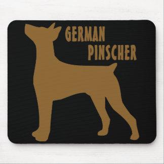 Pinscher alemán mouse pads