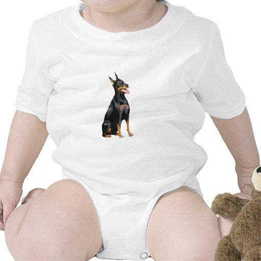 Pinscher del Doberman (a) Trajes De Bebé