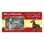 Pinscher del Doberman del navidad (oídos puntiagud