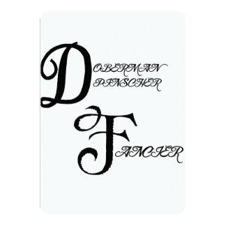 pinscher fancier.png del doberman invitacion personalizada