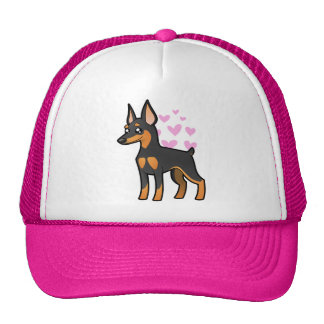 Pinscher miniatura/amor de Manchester Terrier Gorro De Camionero