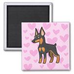 Pinscher miniatura/amor de Manchester Terrier Imán Para Frigorifico