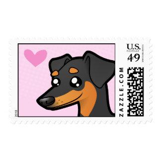Pinscher miniatura/amor de Manchester Terrier Sellos