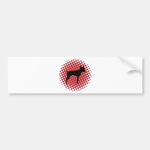Pinscher miniatura etiqueta de parachoque