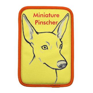 Pinscher miniatura, mini vertical del iPad Funda iPad Mini