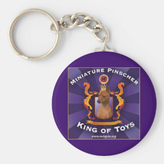 Pinscher miniatura, rey de juguetes llaveros personalizados
