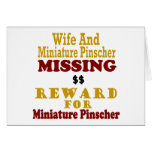 Pinscher miniatura y recompensa que falta de la es felicitaciones