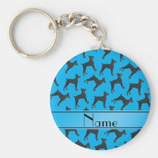 Pinschers conocidos personalizados del doberman llavero redondo tipo pin